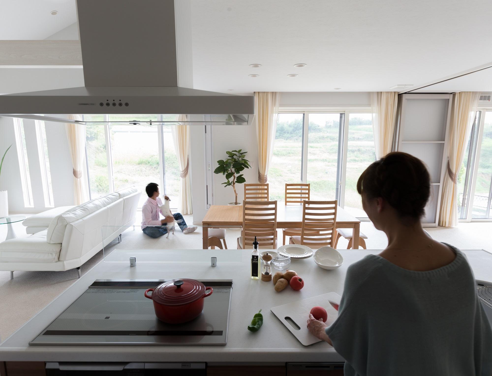愛犬が快適に暮らすためのアイデアがいっぱい。シンプルな美を追求した平屋住宅。